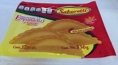 Saboretti discos para empanadas tamaño grande