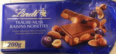 Chocolat raisins noisettes