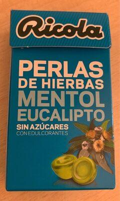 Perlas de hierbas mentol eucalipto