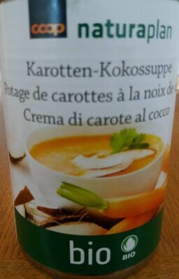 Potage de carottes à la noix de coco