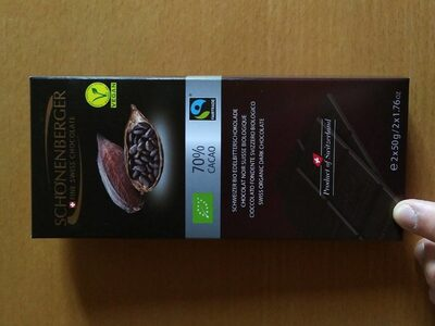 Chocolat noir bio 70%