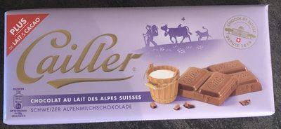 Chocolat au lait des Alpes suisses