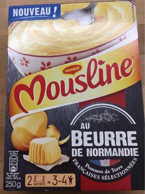 Mousline Purée au beurre de Normandie les 2 sachets de 125 g