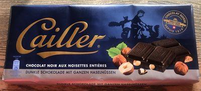 Chocolat noir aux noisettes entières