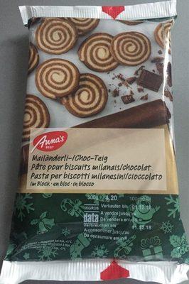 Pâte pour biscuits milanais / chocolat