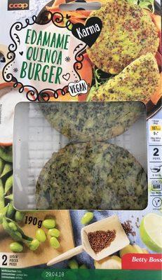 Edamame Quinoa Burgers