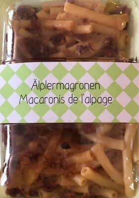 Macaronis de l'alpage