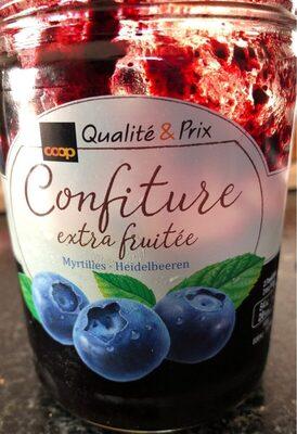 Confiture extra fruitée myrtilles