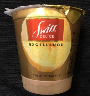 Le Yaourt Dessert au Chocolat Suisse sur Lit de Banane