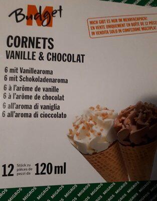 Cornets vanille & chocolat