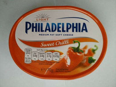 Philadelphia cream cheese-soft sweet chili light