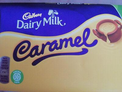 Cadbury dairy milk chocolate bar caramel