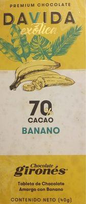 Premium chocolate davida exotica banano 70% cacao