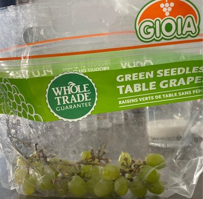 Green Seedless Table Grapes