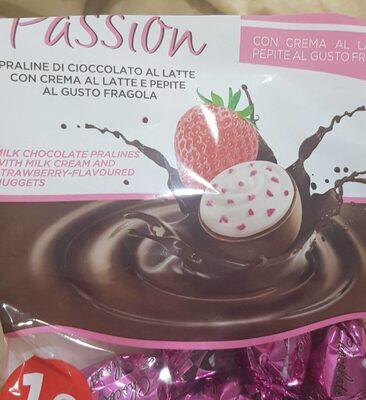 Praline di cioccolato al gusto fragola