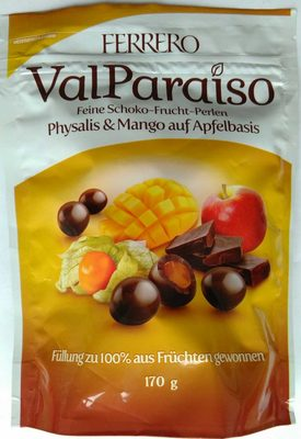 Feine Schoko-Frucht-Perlen Physalis & Mango auf Apfelbasis