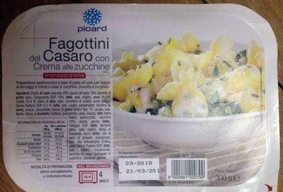 Fagottini del Casaro con crema alle zucchine