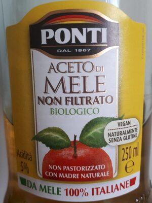 Aceto di mele non filtrato biologico