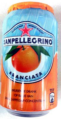 Boisson aromatisée pétillant orange