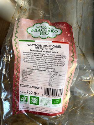 Panettone Traditionnel Épeautre Bio