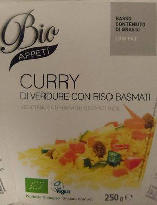Curry di verdure con riso basmati