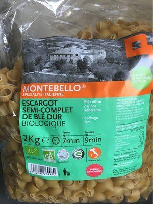 Escargot semi-complet de blé dur biologique