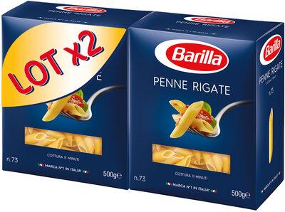 Lot pâtes Penne Rigate x2