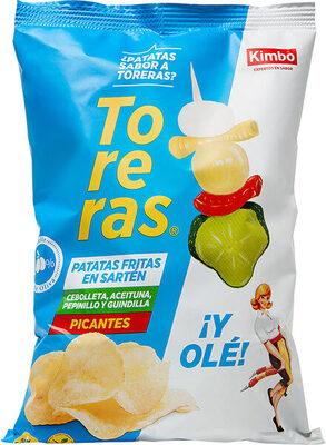 Toreras patatas fritas picantes sabor cebolleta, aceituna, pepinillo y guindilla bolsa 120 g
