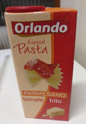 Tomate especial pasta con parmesano