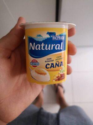 Yogur natural azucar de caña