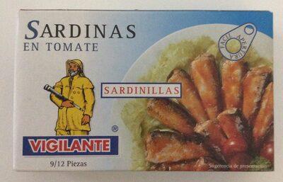 Sardinas en tomate - sardinillas 9-12 piezas
