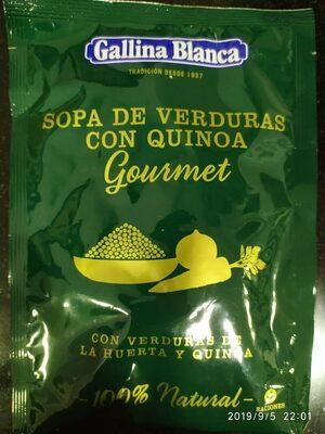 Sopa de verduras con quinoa gourmet