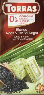 Blanco algas y flor sal negra
