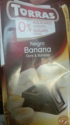 Tableta Chocolate negro banana
