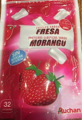 Chicles sabor fresa