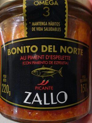 Bonito del Norte con pimiento de Ezpeleta