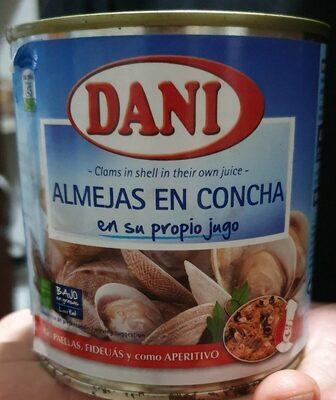 Almejas en concha