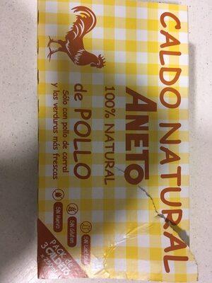 Caldo de pollo 100% natural pack 3 envase 200 g