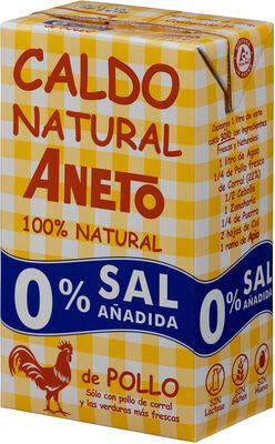 Caldo de pollo natural 0% sal añadida envase 1 l