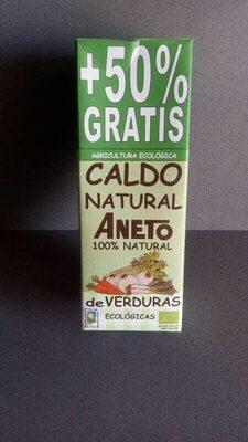 Caldo natural de verduras ecológicas