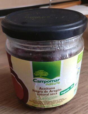 Aceitunas negras ecológicas sabor natural sin caldo frasco 210 g