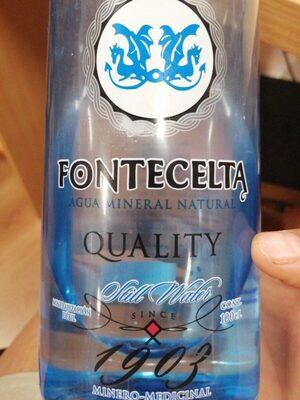 Agua mineral Fontecelta Quality