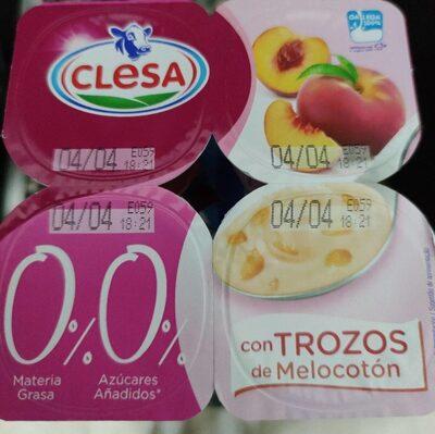 Yogur con trozos de fruta