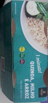 Riz rond, quinoa, millet cuits