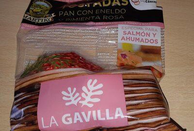Tostadas pan con eneldo y pimienta rosa