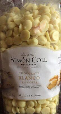 Chocolate blanco en gotas