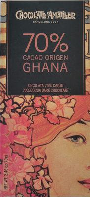Grand Cru Ghana, Zartbitterschokolade 70 %