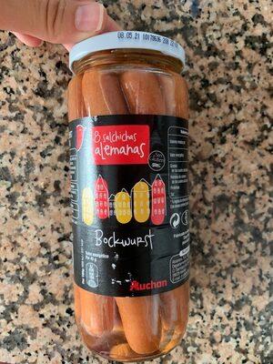 Salchichas  Bockwurst cocidas y ahumadas