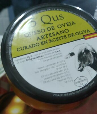 Queso de oveja curado en aceite de oliva