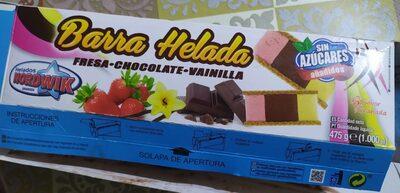 Barra helada fresa chocolate vainilla